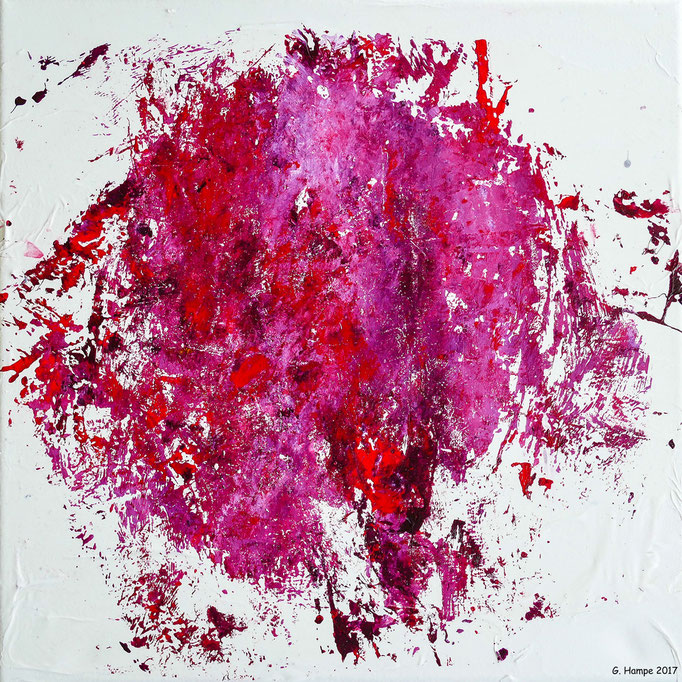 Red abstract chaos 2 30x30x4 cm canvas