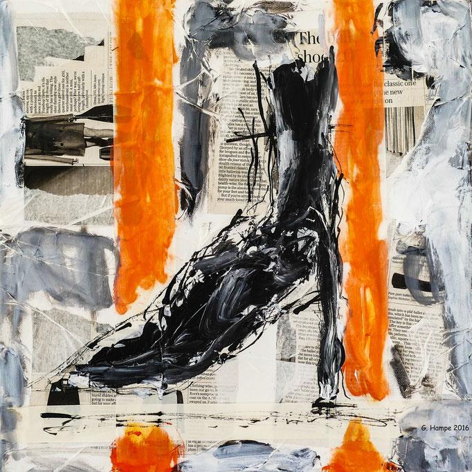 The black shoe 40x40x4 cm canvas