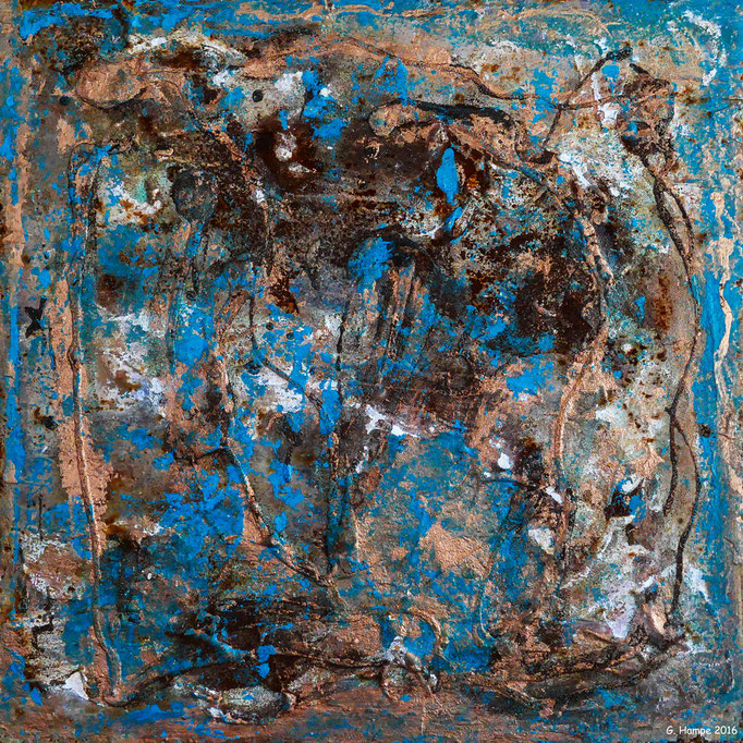 Rust art 5 30x30 iron plate