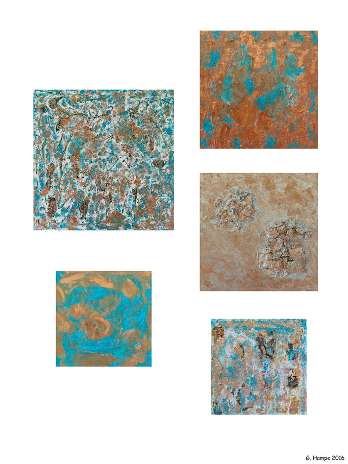 Collage of abstract art 2