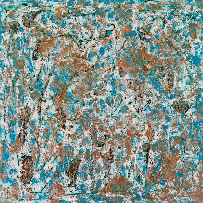 Moroccan colors 60x60x4 cm canvas