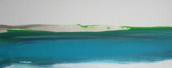 Frank Koschnick: Lagune 2 | Acryl auf Leinwand 50 x 20 cm