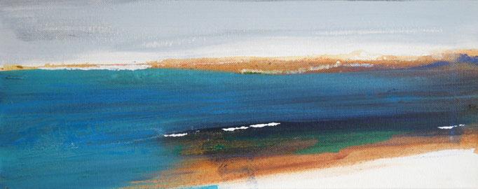 Frank Koschnick: Meer | Acryl auf Leinwand 50 x 20 cm