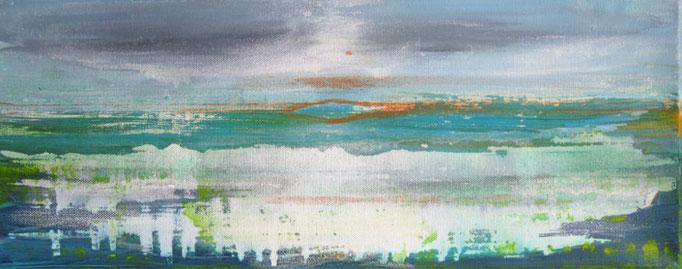 Frank Koschnick: Lagune | Acryl auf Leinwand 50 x 20 cm