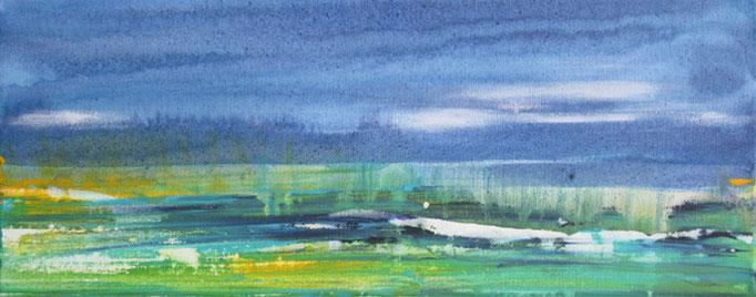 Frank Koschnick: Am See | Acryl auf Leinwand 50 x 20 cm