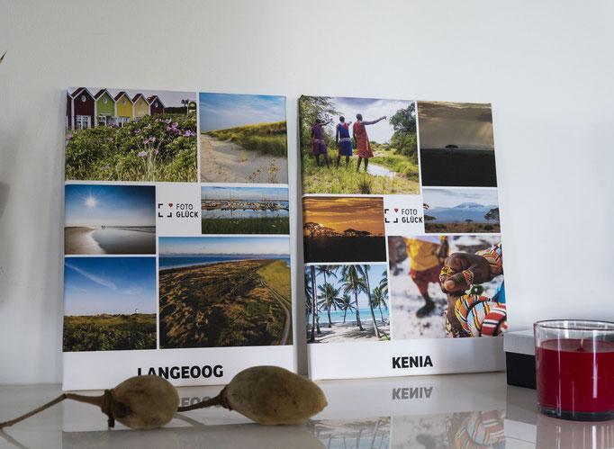 Leinwanddruck Kenia und Langeoog