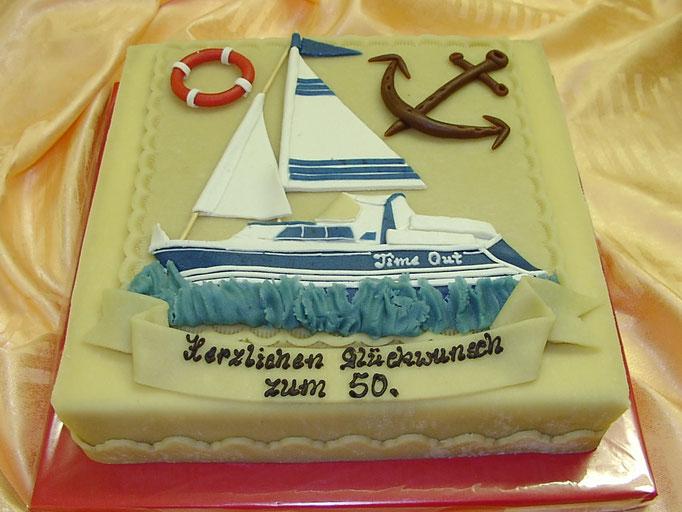 Marzipan-Schiff, Segelboot