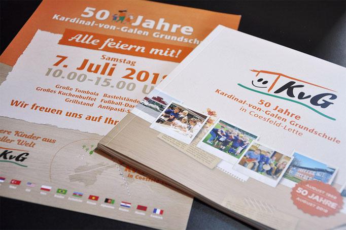 Jubiläum der Kardinal-von-Galen-Grundschule in Coesfeld-Lette - Festschrift von SATZDRUCK