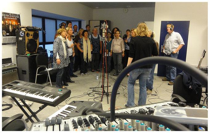 """Aufnahmen mit dem Chor """"mixed voices"""", am 30.08.2011"""
