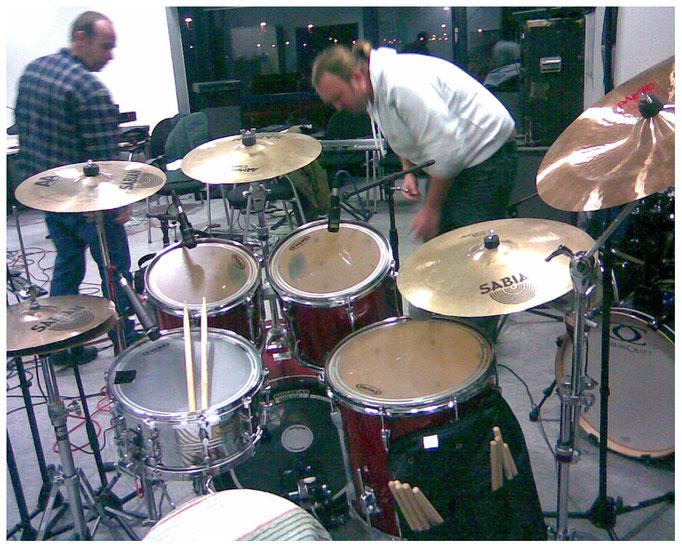 Einrichten des Schlagzeugs, 28.01.2011