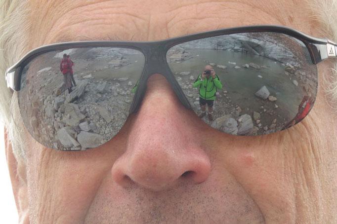 Coole Sonnenbrille, endlich mal ist der Fotograf drauf...