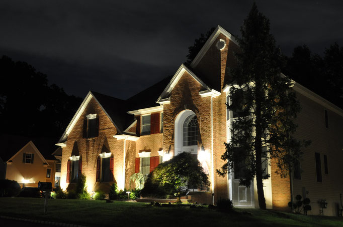 Another stately home with the proper uplighting it's facade deserves!