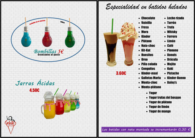 Bombillas - Batidos helados