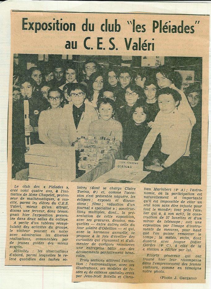 1968 NICE-MATIN EXPOSITION CLUB DES PLEIADES