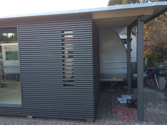 Wohnwagenanbau NACHHER