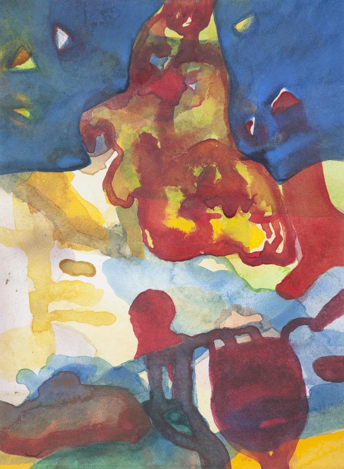 vor der dialyse, 2017, 28 x21cm, aquarellfarbe/papier