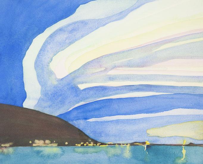 polarlicht, 2011, 30 x 36,3cm, aquarellfarbe/papier