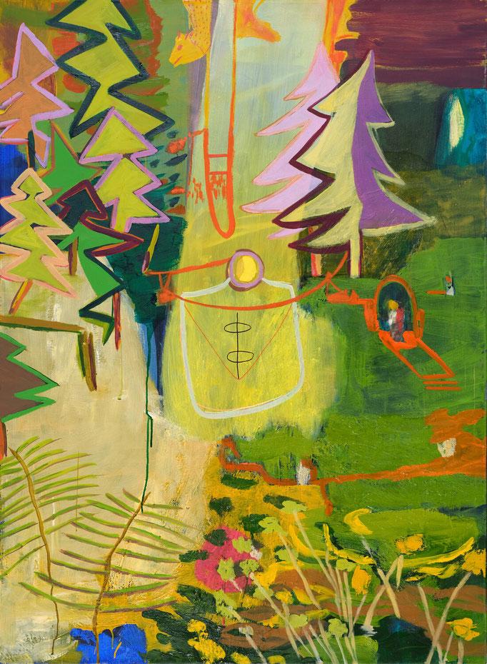 >mythos wald<, 2019, 150 x 110 cm, oil/canvas