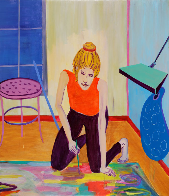 >painting woman<, 2019, 160 x 140 cm, oil/canvas