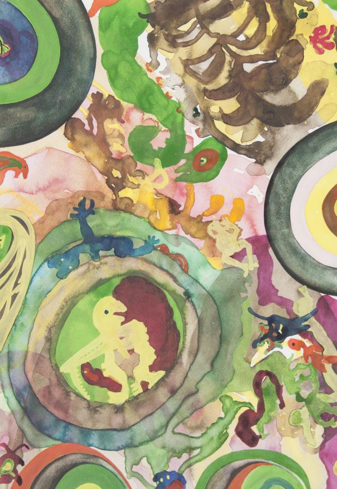 insektenaugen sehen anders, 2010, 43 x 30cm, aquarellfarbe/papier