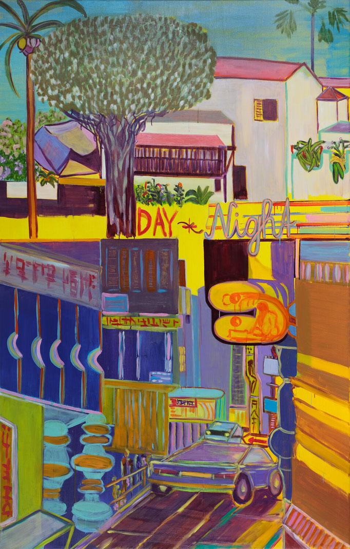 >day + night<, 2019, 210 x 135 cm, oil/canvas