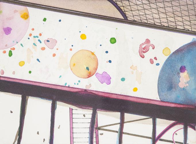 glasperlenspiel, 2012, 18 x 24cm, aquarellfarbe/papier