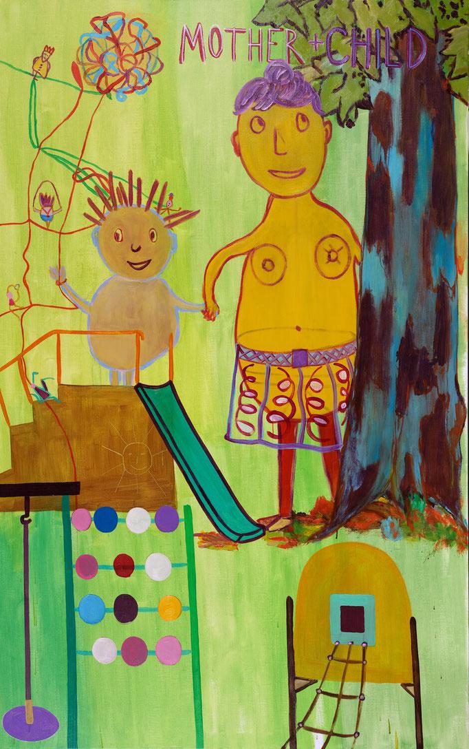 >mother + child<, 2019, 185 x 115 cm, oil/canvas
