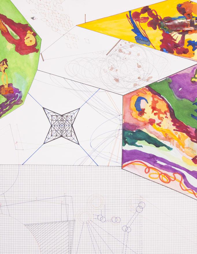 space props, 2013, 72 x 56cm, aquarellfarbe, bleistift, farbstifte/papier