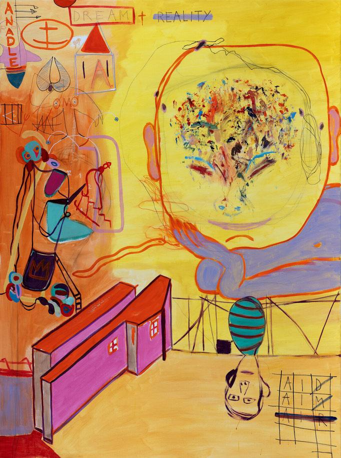 >großer traumkopf<, 2019, 161 x 120 cm, oil/canvas