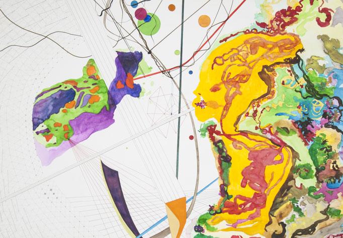 gallusrohr, 2011, 70 x 100cm, aquarellfarbe, bleistift, farbstifte/papier