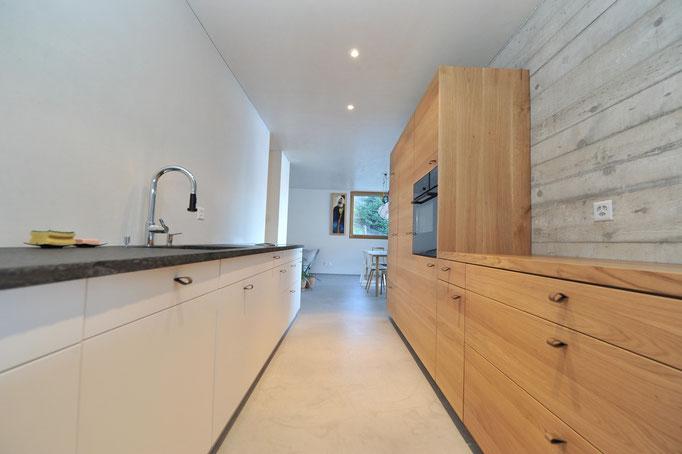 Cucina laccata e legno