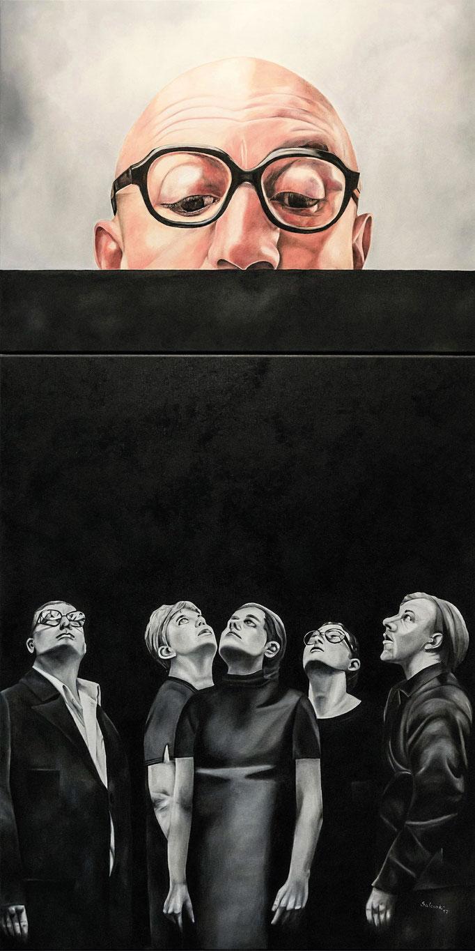 """Orwell 17"" | 2017 | Öl auf Leinwand | 160x80 cm"