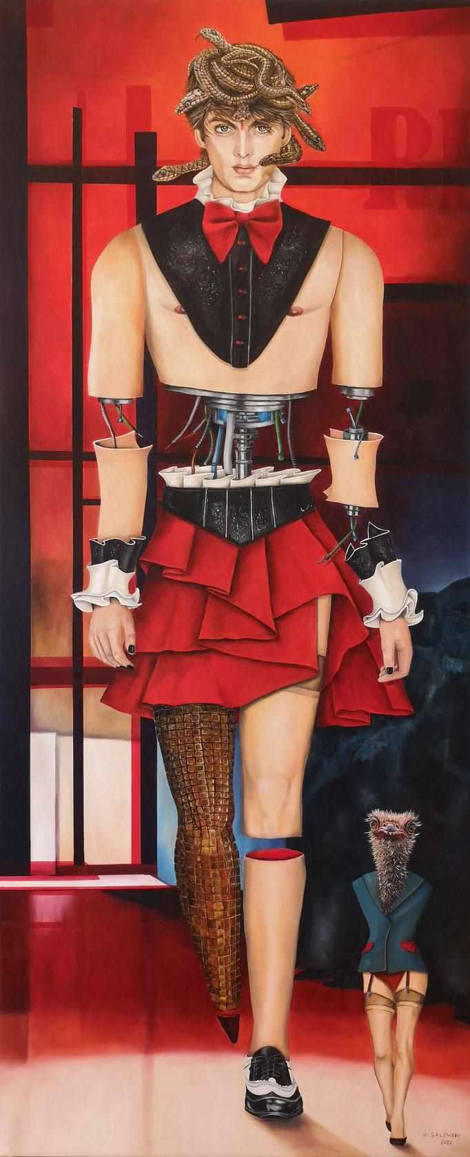 """""""It's Fashion IV""""   2020   Öl auf Leinwand   150x60 cm"""