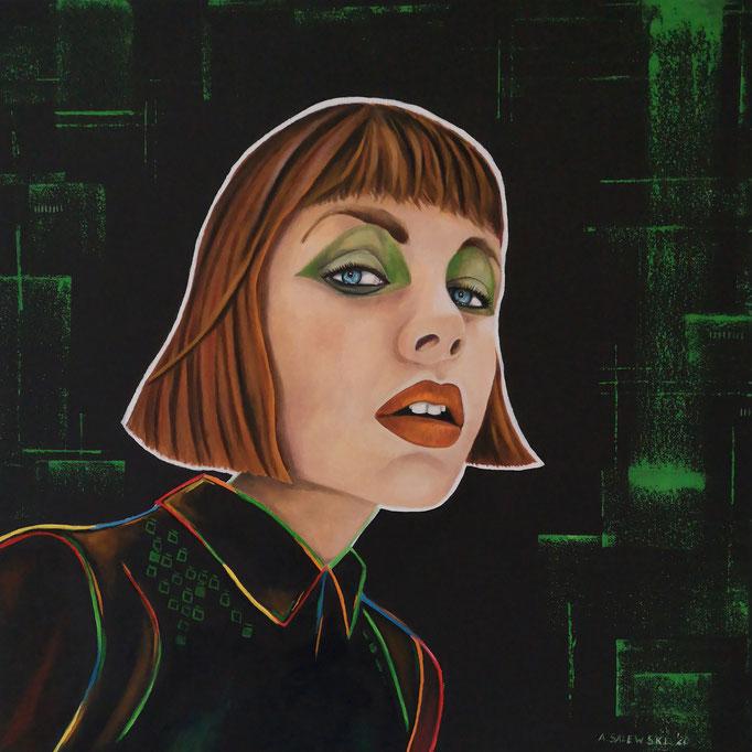 """Gunda""   2020   Öl und Acryl auf Leinwand   60x60 cm"