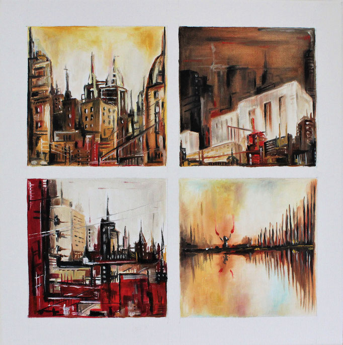 """Urban Landscape""; Öl auf Leinwand, 30x30 cm"