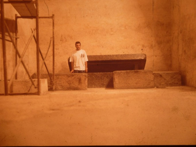 Sarcofago de la piramide de Kefren,Giza, El Cairo.