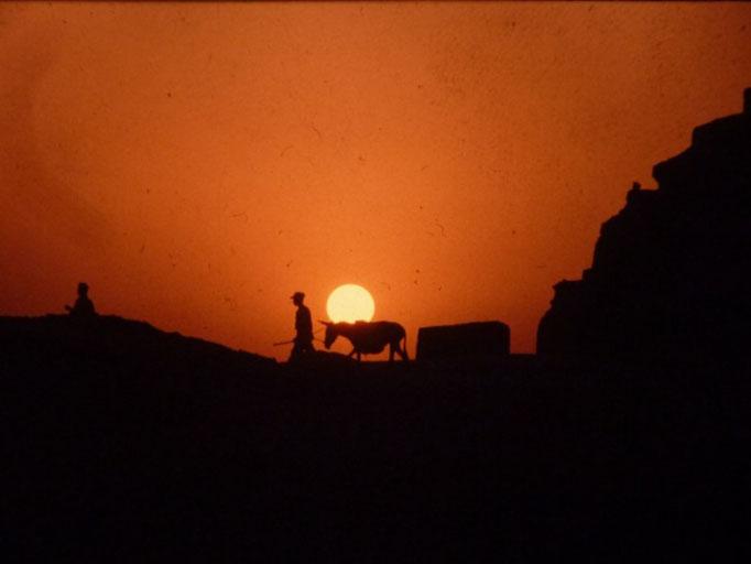 Atardecer en las piramides de Giza
