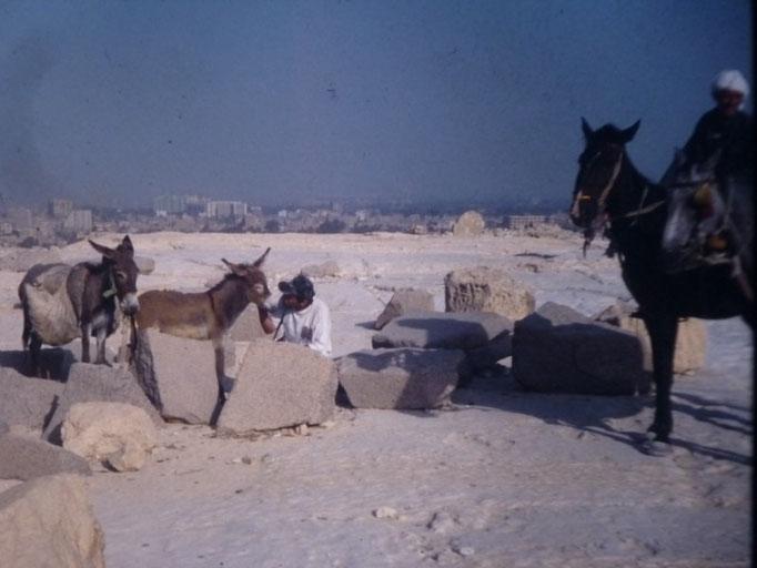 En la meseta de las piramides,Giza, El Cairo.