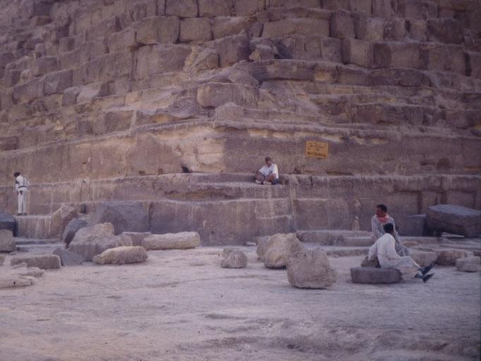 Angulo nordeste de la piramide de kefren,Giza, El Cairo.