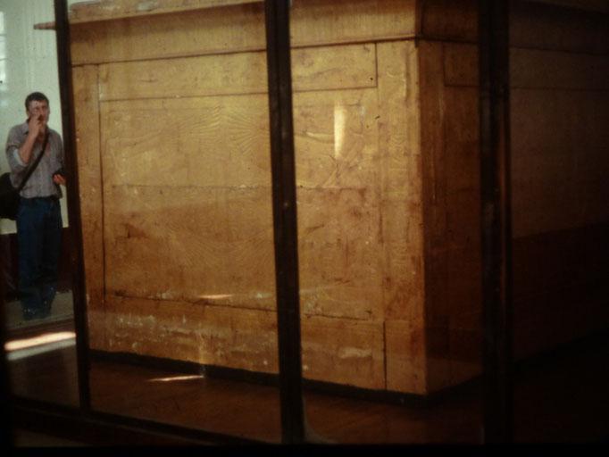 Una de las capillas doradas de Tutankhamon ( Museo de El Cairo )
