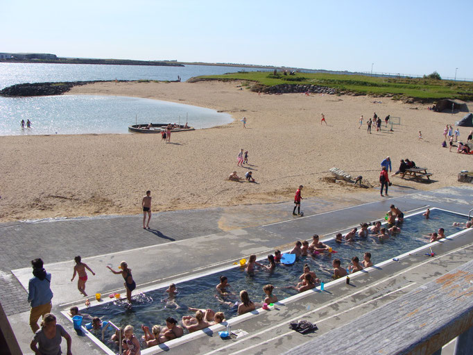 A swimming place on the eastern site of Reykjavik.