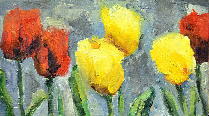 "Twosome, tulips, 6"" x 11"""