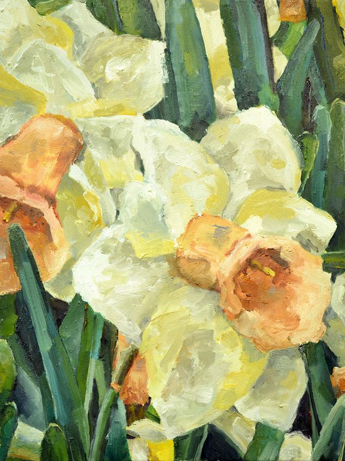 """Daffodil twosome, 18""""x 24"""""""