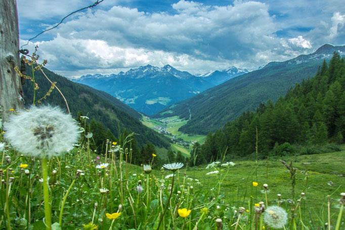 Herrlicher Panormablick auf das idyllische Bergdorf Weißenbach im Ahrntal - Südtirol