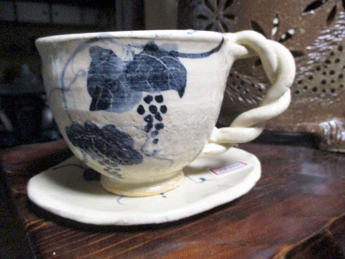 呉須絵コーヒーカップ   ¥1,500