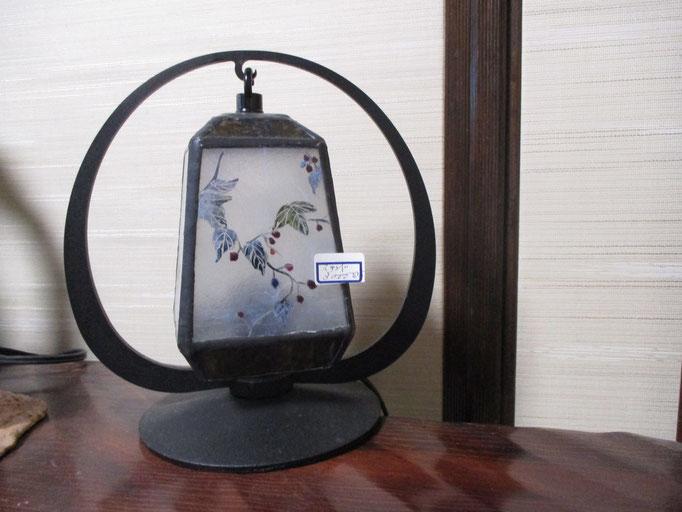 絵焼き付けステンドランプ  ¥30,000