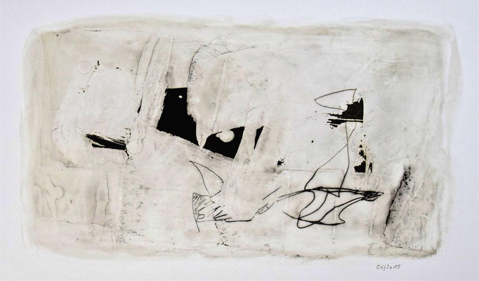 12 Wachs + Öl auf Papier 25 x 46 cm