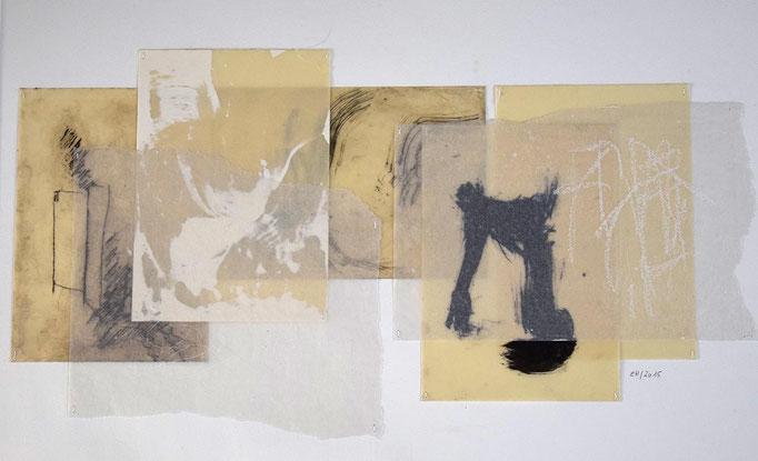 10 Collage auf Papier 40 x 60 cm
