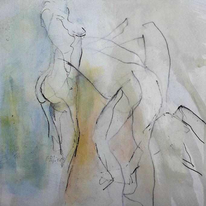 53 Graphit und Acryl auf Papier 20 x 20 cm
