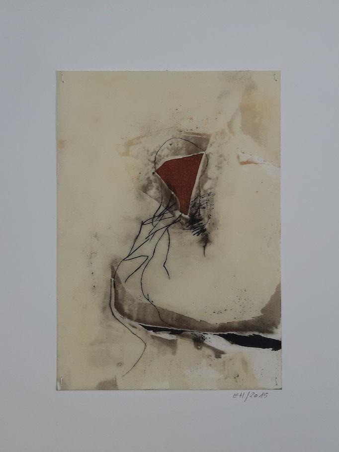 16 Wachs + Öl auf Papier 21 x 15 cm